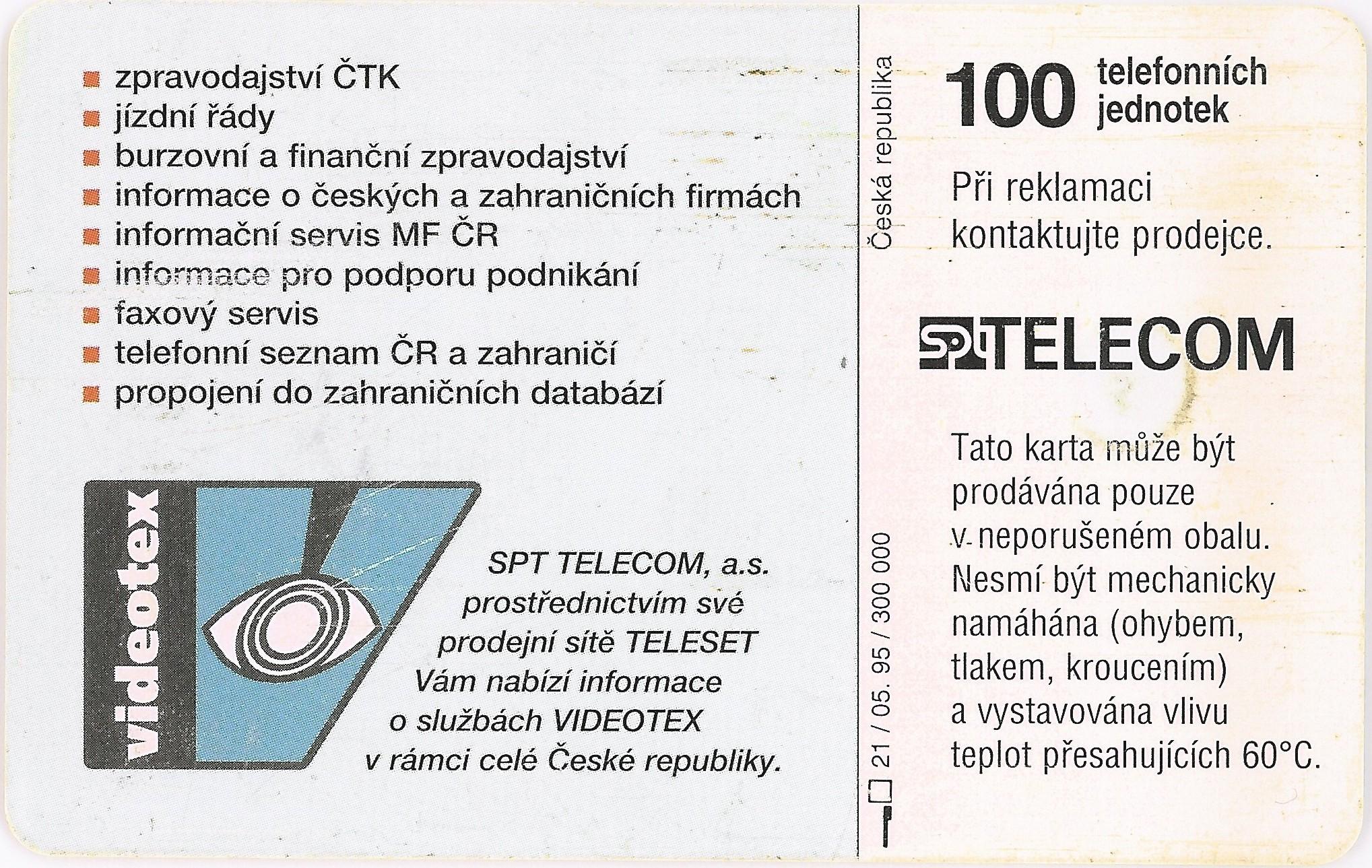 Tarjeta Videotex 100
