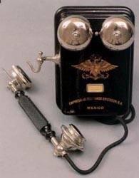 Teléfono de batería central.