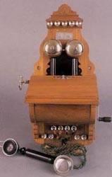 Teléfono de magneto.