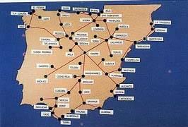 Red española de telégrafo eléctrico prevista en la ley de 24 de Abril de 1855.