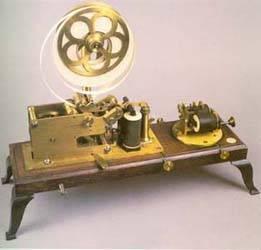 Receptor Morse de punta seca, accionado por contrapeso.