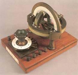 Galvanómetro magnético y brújula de senos.