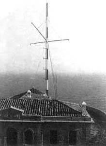 Aspecto del edificio del semáforo para comunicaciones marítimas en el cabo Bagur (Gerona), al ser utilizado en 1972 para costera de VHF.