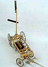 Maqueta de carro de campaña con telégrafo óptico militar