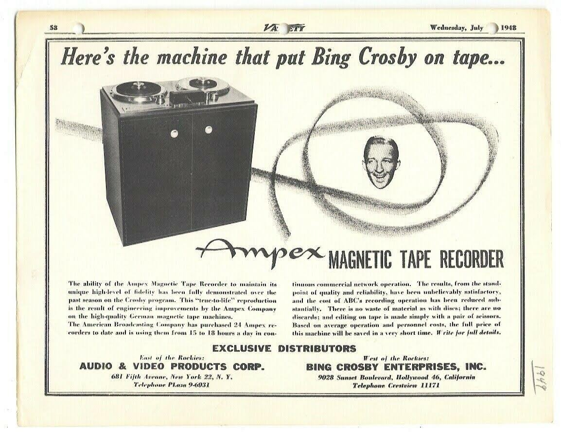 mr music ampex corsby